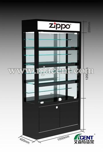商场展柜,产品展示柜 工艺礼品展柜 zippo打火机展柜  enlarge item